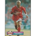 Signed picture of Fabrizio Ravanelli the Middlesbrough footballer.