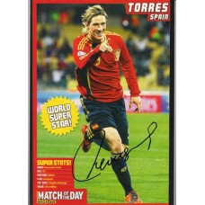 Signed picture of Fernando Torres the Spain footballer.