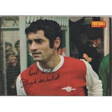 Signed picture of Frank McLintock the Arsenal footballer.