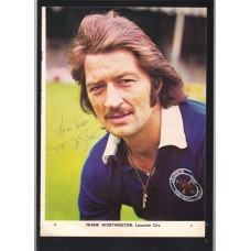 Signed portrait of Frank Worthington the Leicester City footballer.