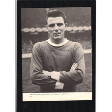 Autographed portrait of Fred Pickering the Everton footballer.