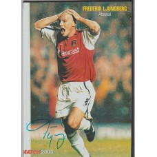 Signed picture of Freddie Ljungberg the Arsenal footballer
