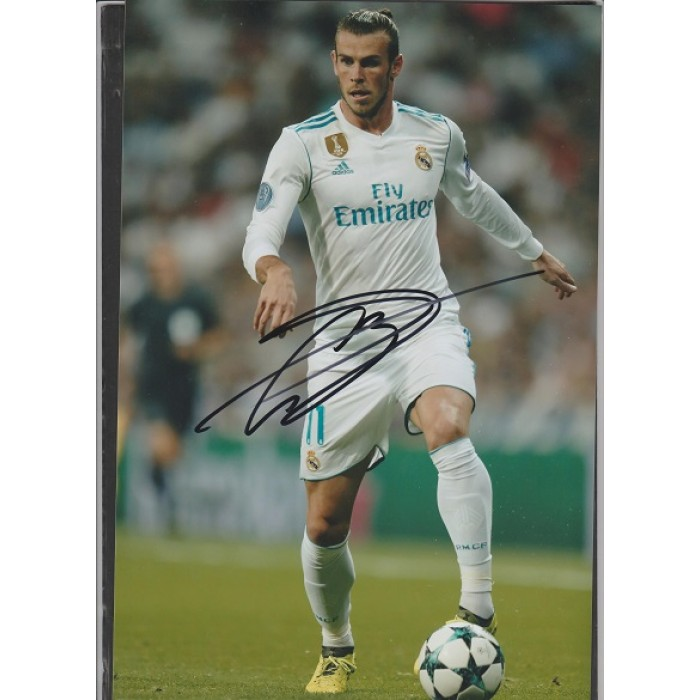 89e67bd08d1 Signed photo of Gareth Bale the Real Madrid footballer.