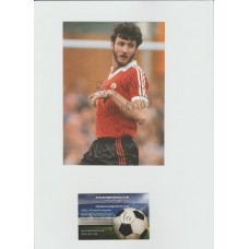 Signed picture of Garry Birtles the Manchester United footballer