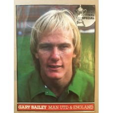 Signed picture of Gary Bailey the Manchester United footballer.