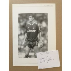 Signed card of Gary Gillespie and unsigned picture of the Liverpool footballer