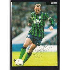 Signed picture of Gary McAllister the Leeds United footballer.