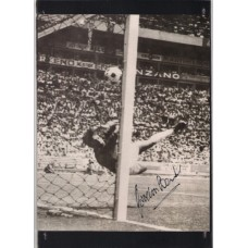 Signed picture of Gordon Banks the England World Cup winning footballer