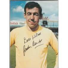 Signed picture of Gordon Banks the England World Cup winning footballer.