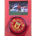 Signed picture of Gordon Strachan the Manchester United footballer.