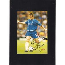 Signed Nike card by Graeme Le Saux the Chelsea footballer.