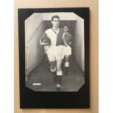 Signed picture of Harry Leyland & Ronnie Clayton the Blackburn Rovers footballers.