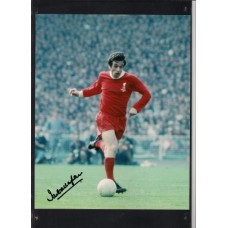Signed photo of Ian Callaghan the former Liverpool footballer.