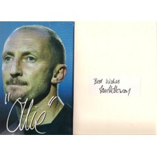 Signed book by footballer Ian Holloway