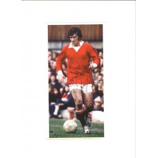 Signed picture of Manchester United footballer Ian Storey-Moore.
