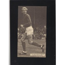Signed picture of the former Manchester United footballer Ian Ure.
