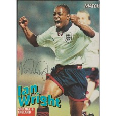 Signed picture of Ian Wright the England footballer.