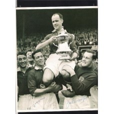 Autographed picture of Jack Crompton and Johnny Morris the Manchester United footballers.