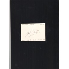 Footballer Jack Sewell signed plain card