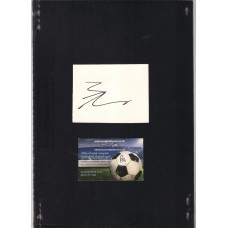 Signed plain card by James Weir the Manchester United footballer.