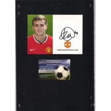 Official James Wilson signed Manchester United Photo Card