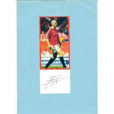 Signed picture of Manchester United footballer Jaap Stam