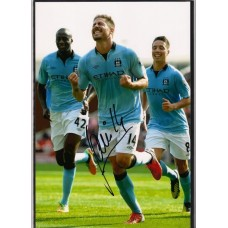 Signed photo of Javi Garcia the Manchester City footballer.