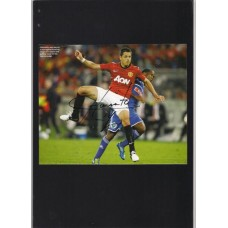 Autograph of Javier Hernandez the Manchester United footballer.