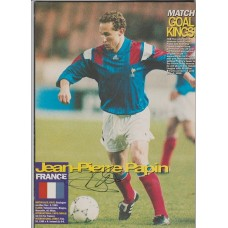 Signed picture of Jean-Pierre Papin the France footballer.