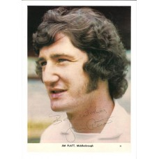 Signed picture of Jim Platt the Middlesbrough footballer