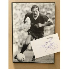 Signed card with unsigned picture of JIMMY CASE the LIVERPOOL footballer.