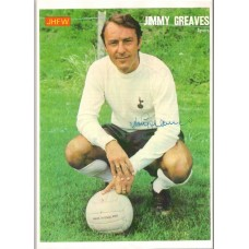 World Cup: Signed picture of Jimmy Greaves the Tottenham Hotspur footballer.