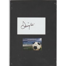 Signed card by Jimmy Hill the former Fulham footballer