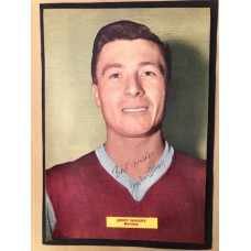 Signed picture of Jimmy McIlroy the Burnley footballer