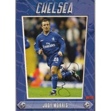 Signed picture of Jody Morris the Chelsea footballer.