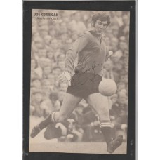 Signed picture of Joe Corrigan Manchester City footballer.