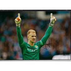 Signed photo of Joe Hart the Manchester City footballer.