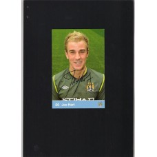 Signed Joe Hart Manchester City Club Card. SORRY SOLD!