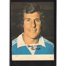 Signed portrait of Joe Royle the Manchester City footballer.