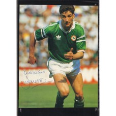 Signed picture of John Aldridge the Liverpool and Eire footballer.