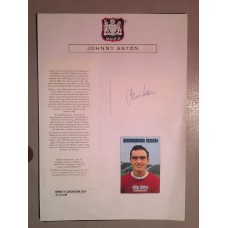 Signed picture of John Aston the Manchester United footballer