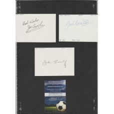 Signed card by JOHN CONNELLY the MANCHESTER UNITED footballer