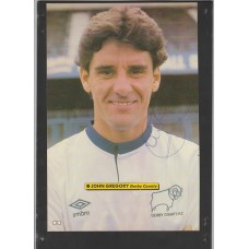 Signed picture of John Gregory the Derby County footballer.