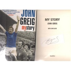 Signed book by Glasgow Rangers and Scotland footballer John Greig