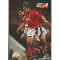 Signed picture of John Hendrie the Middlesbrough footballer.