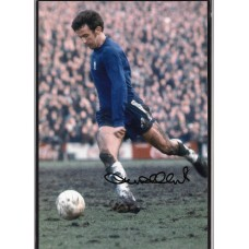 Signed photo of John Hollins the Chelsea footballer.
