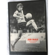 Signed picture of John McAlle the Wolverhampton Wanderers footballer.