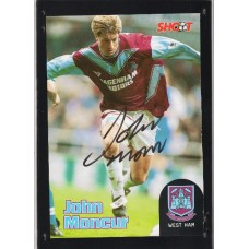 Autograph of John Moncur the West Ham United footballer.