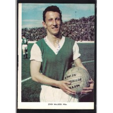 Signed picture of John MacLeod the Hibernian footballer.