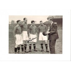 Johnny Morris large signed picture in his Manchester United kit